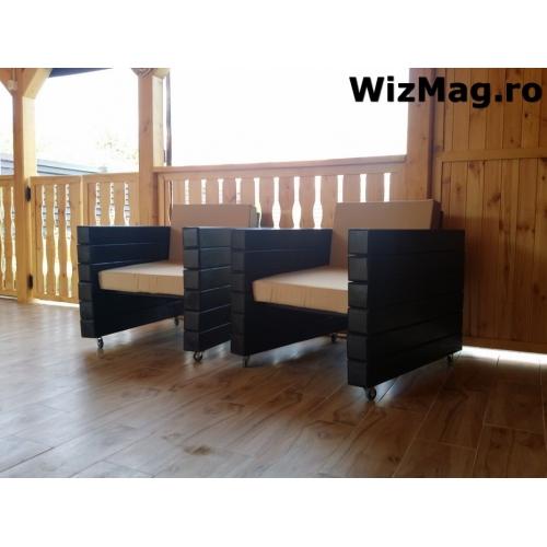Panou gard lemn matrice, lacuit