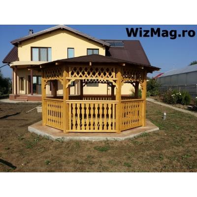Canapea si masa din lemn pentru terasa