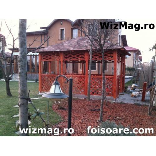Masa si scaune din lemn pentru terasa